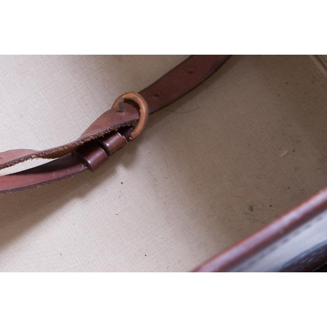 Leather trunk on stand For Sale - Image 10 of 11