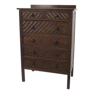 American Rustic Mission Dark Oak Chest For Sale