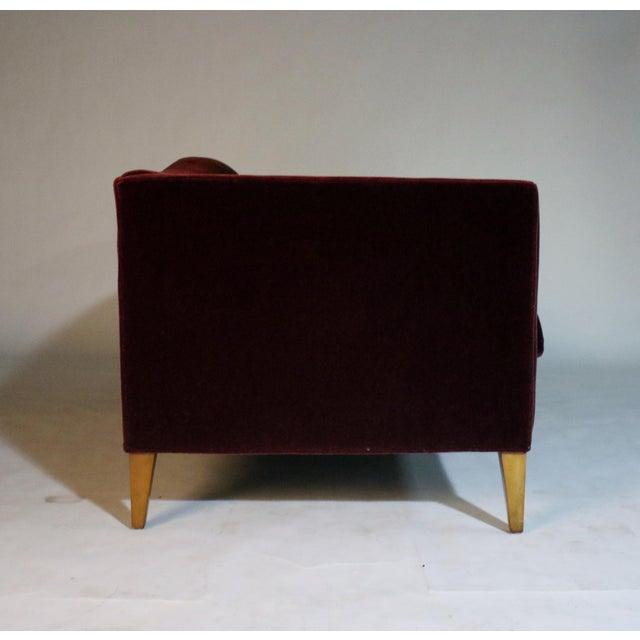 Contemporary Baker Archetype Model #2386-80 Red Merlot Mohair Sofa For Sale - Image 3 of 11