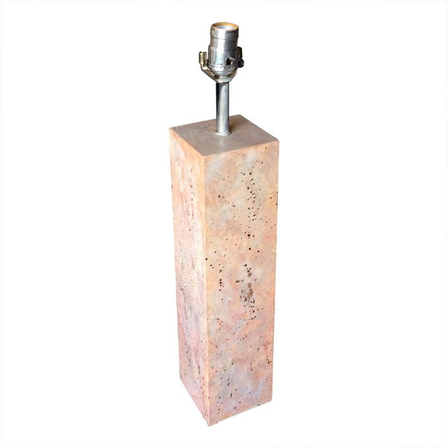 Modernist Stone Composite Lamp - Image 2 of 5