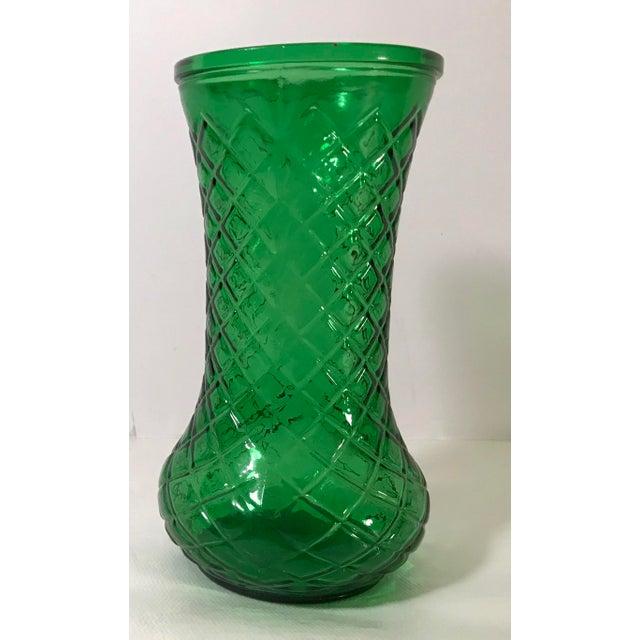 Vintage Hoosier Glass Green Vase Chairish