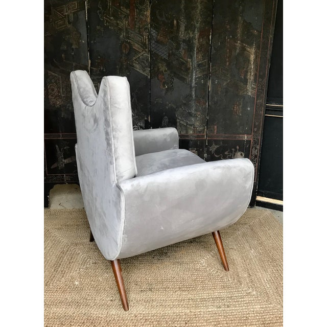 Chic Lounge Chairs in the Manner of Jean Royere - a Pair For Sale - Image 10 of 13