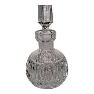 C. 1920s French Cut Crystal Baccarat Style Perfume Bottle For Sale