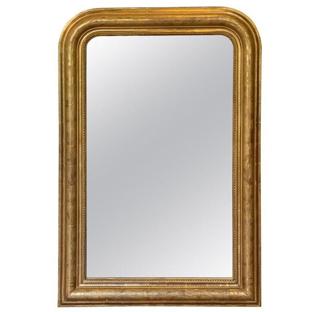 Fine 19th Century Louis Philippe Giltwood Incised Decorated Mirror For Sale In Atlanta - Image 6 of 6