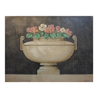 Floral Fresco Painting by Jacques Lamay For Sale