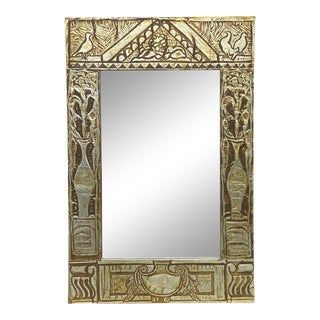 Tin Clad Covered Mirror For Sale
