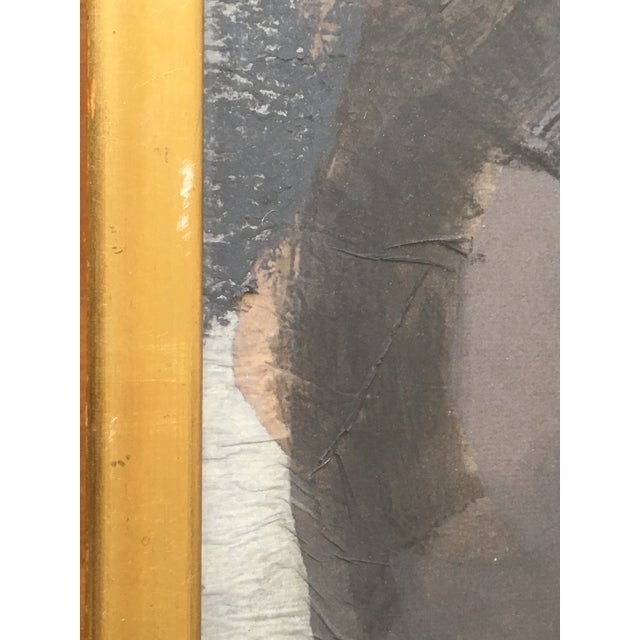 Contemporary 1962 Vintage Robert Kohls Abstract Pastel on Paper Collage For Sale - Image 3 of 7