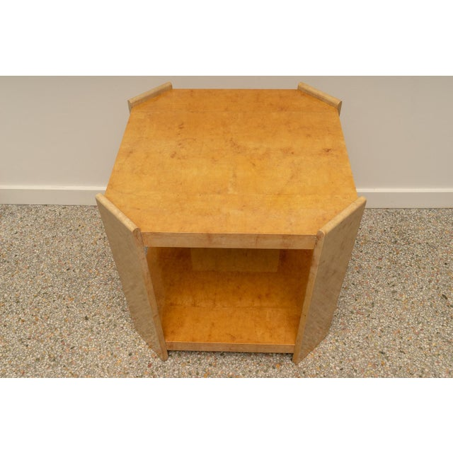 Modern Goatskin End Tables - a Pair For Sale In West Palm - Image 6 of 10