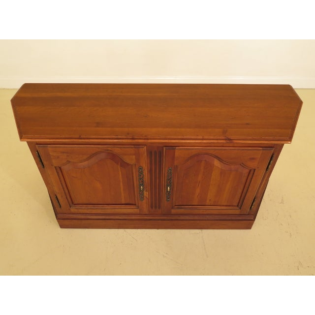 Traditional Ethan Allen 2 Door Cherry Media Cabinet Console For Sale - Image 3 of 13