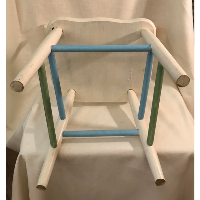 Paint Painted Child's Spindle Chair For Sale - Image 7 of 9