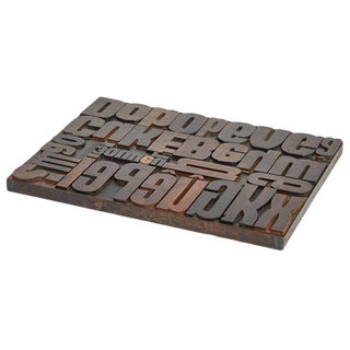 Vintage Wood Typeset Tray For Sale
