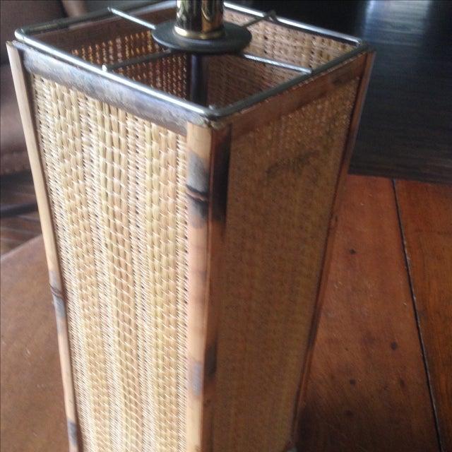 Vintage Rattan Table Lamp - Image 5 of 11