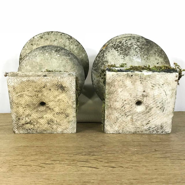 Pair 19th Century Carved Marble Vases For Sale - Image 10 of 11