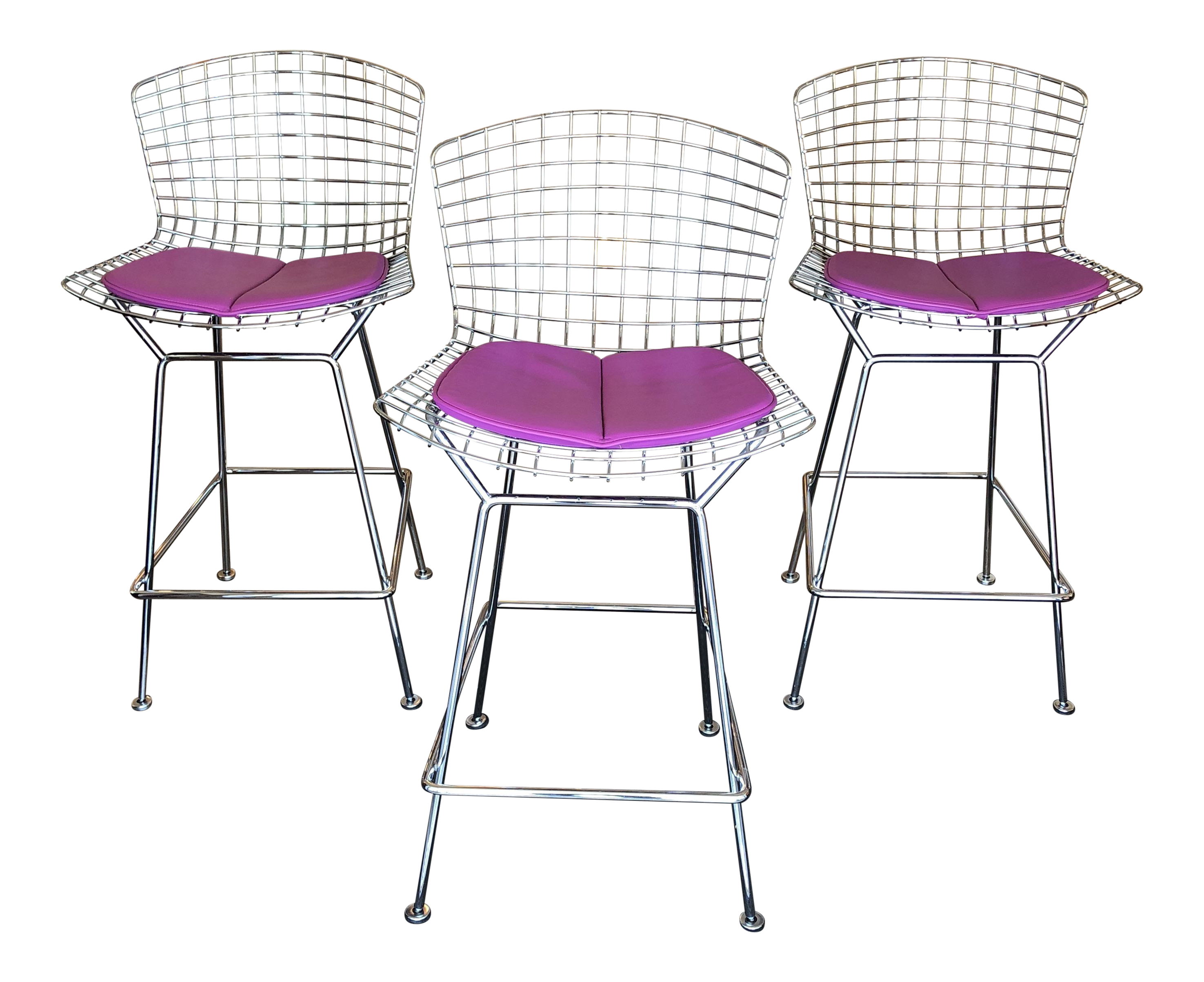 Bertoia For Knoll Counter Height Bar Stools   Set Of 3