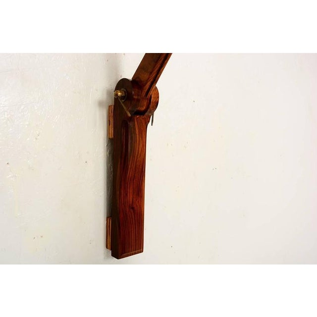Cocobolo & Walnut Wall Sconce For Sale In San Diego - Image 6 of 10