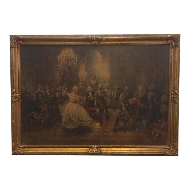Georg Schobel French Court Painting For Sale