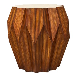 Modern Zebra Wood Side Table For Sale
