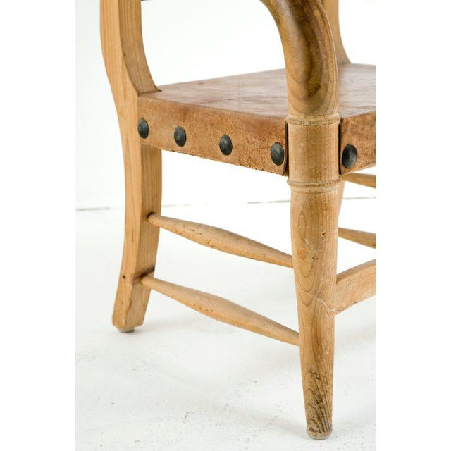Orange Rustic Michael Taylor Pine Chair For Sale - Image 8 of 9