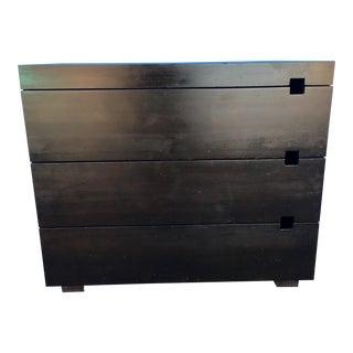Modern CB2 Ebony 3-Drawer Dresser For Sale