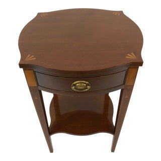 1980s Traditional Baker Historic Charleston Collection Mahogany and Inlaid Side Table For Sale