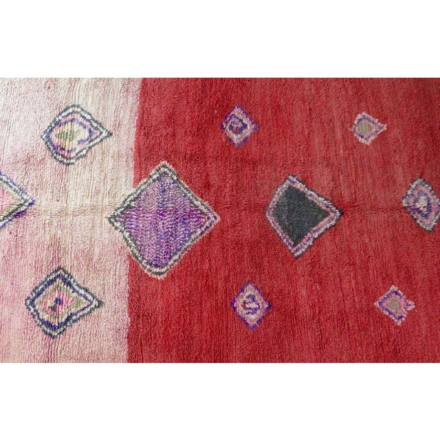 Vintage Moroccan Boujad Rug For Sale - Image 9 of 11