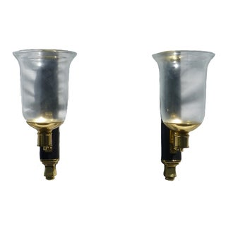 Sarreid Leather Hurricane Wrapped Sconces - Pair For Sale