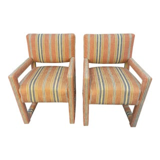 Vintage Kay Dee Contempo Upholstered Chairs- a Pair For Sale