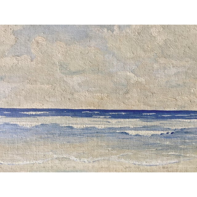 Vintage Seascape Oil Painting by H. Pond 1937 - Image 3 of 5