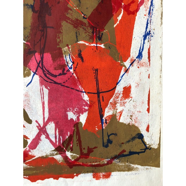 1970s Abstract Screenprint For Sale - Image 4 of 8