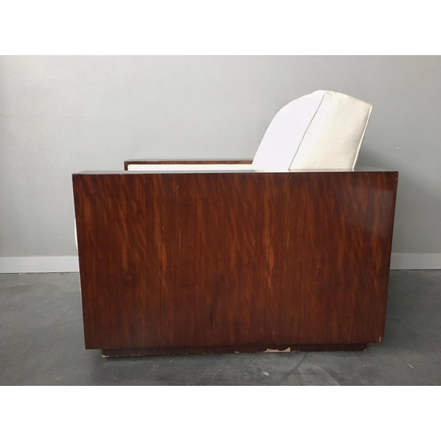 Art Deco Contemporary Art Deco Ralph Lauren Metropolis Collection Rosewood Club Chair by Herendron For Sale - Image 3 of 13