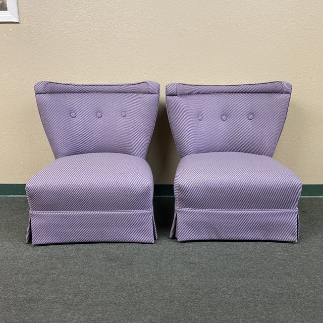 Mid 20th Century Custom Slipper Chairs- a Pair For Sale - Image 13 of 13