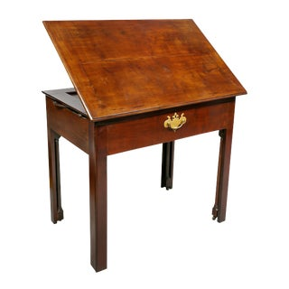 George III Mahogany Architects Table For Sale