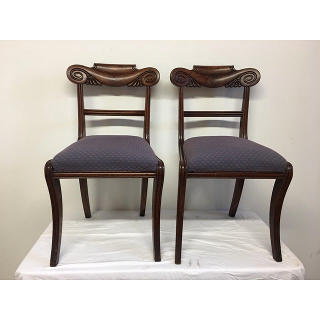 19th Century Antique English Mahogany Chairs - Set of 6 For Sale In Los Angeles - Image 6 of 11