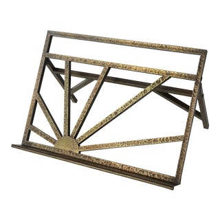 Hammered Brass Arts and Crafts Style Book Stand