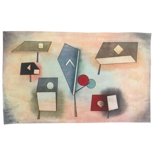"""Paul Klee Rare Vintage 1969 Abstract Modernist Lithograph Print """" Six Species """" 1930 For Sale"""