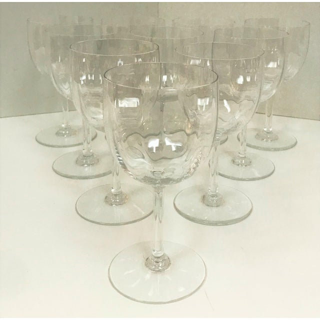 Baccarat Montaigne Optic Crystal Wine Glasses Goblets- Set of 10 For Sale - Image 13 of 13