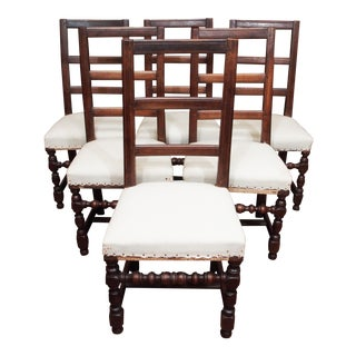 Louis XIV Style Dining Chairs - Set of 6 For Sale
