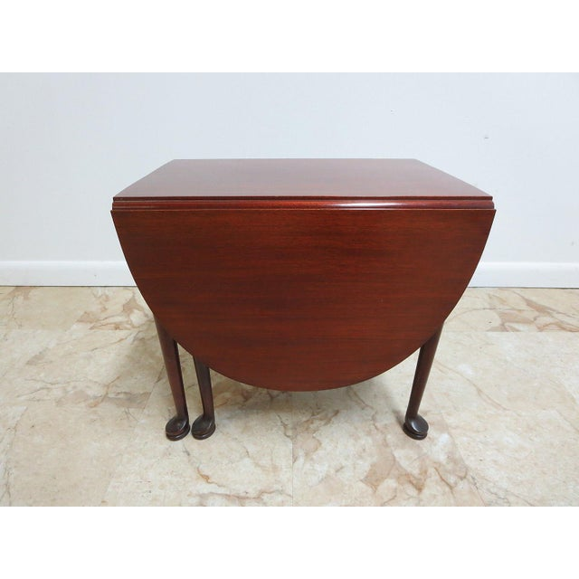 Cherry Queen Anne Gate Leg Drop Leaf Table For Sale - Image 9 of 11