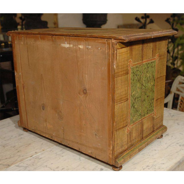 Early 19th Century 19th Century Continental European Miniature Chest For Sale - Image 5 of 6