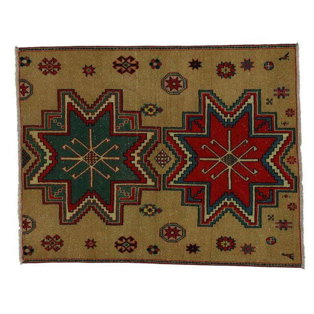 Contemporary 20th Century Turkish Oushak Rug - 2′6″ × 3′2″ For Sale - Image 3 of 5