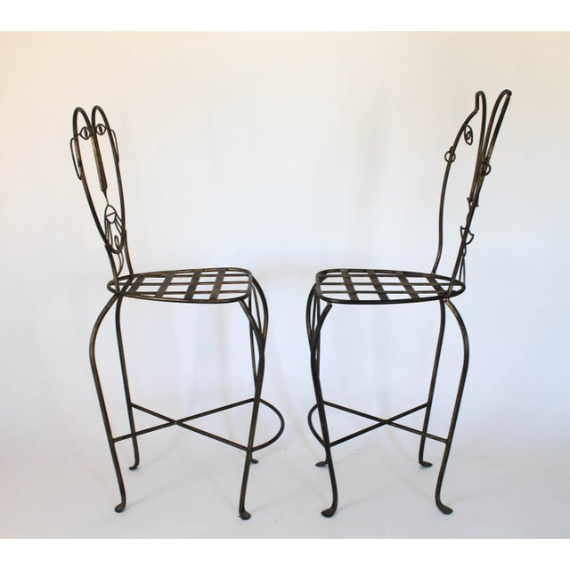 John Risley Figural Iron Chairs in the Style of John Risley For Sale - Image 4 of 13