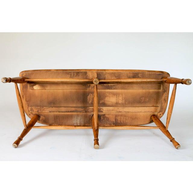 High Back Solid Oak Bench - Image 11 of 11