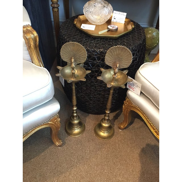 1970s India Brass Flamingo Pillar For Sale - Image 10 of 11
