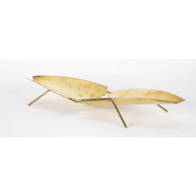 Bauhaus Brass Tray Designed by Kupetz for Wmf For Sale - Image 3 of 6