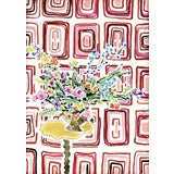 Image of Kate Lewis Wallpaper and Flowers for My Next House Original Painting For Sale