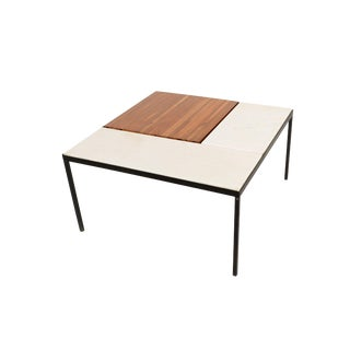 Marble Top Coffee Table Indoor Outdoor Table With Planter Box For Sale