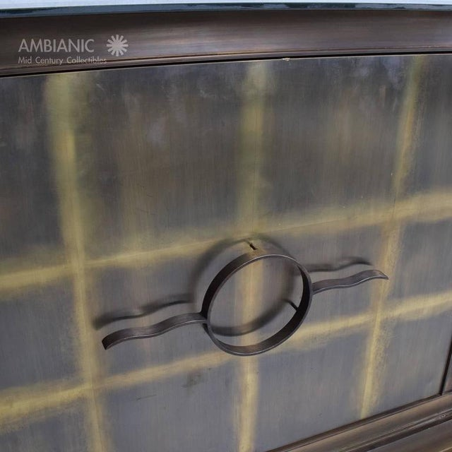 Gold Mid-Century Mexican Modern Bronze Credenza For Sale - Image 8 of 8