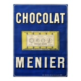 Image of Vintage French Chocolate Menier Poster, C.1900 For Sale