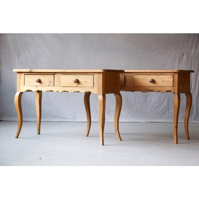 Brown English Country Style Pine Console 2 of 2 For Sale - Image 8 of 9