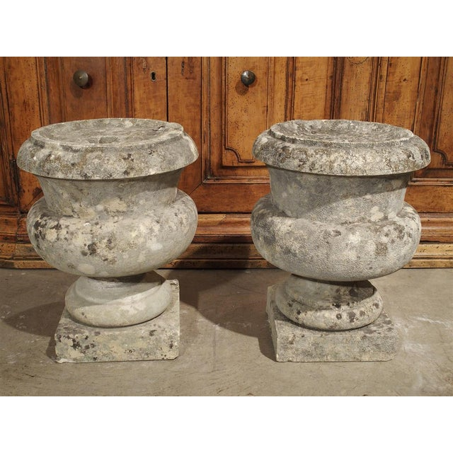 Pair of Antique Carved Stone Garden Finials From Bordeaux France, 19th Century For Sale - Image 11 of 12